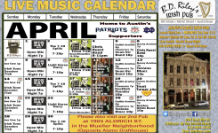 Check Our Live Music Calendar Here | Bd Riley's Irish Pub