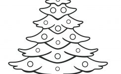 Christmas Tree Template Coloring Pages – Navajosheet.co