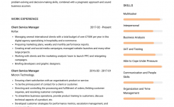 Client Service Manager – Resume Samples And Templates   Visualcv