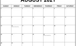 Collection Of August 2021 Calendars With Holidays