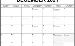 Collection Of December 2021 Calendars With Holidays