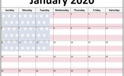 Collection Of January 2020 Photo Calendars With Image Filters.