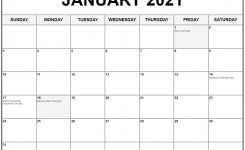 Collection Of January 2021 Calendars With Holidays
