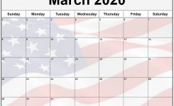 Collection Of March 2020 Photo Calendars With Image Filters.