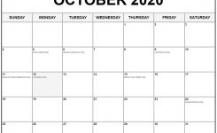 Collection Of October 2020 Calendars With Holidays