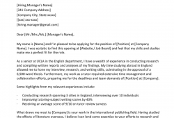 Examples Of Cover Letters For Resumes