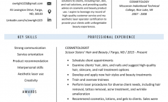Cosmetologist Resume Sample & Writing Guide | Resume Genius