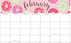 Cute February 2020 Calendar With Notes Printable – Set Your