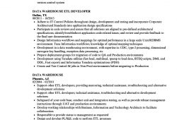 Data Warehouse Resume Example