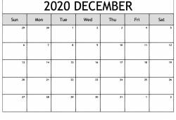 Free Printable December 2020 Calendar For Daily Office Work