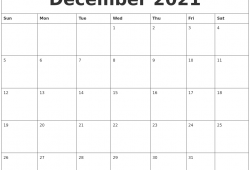 Calendar December 2021 Monday To Sunday