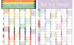 Details About 2020 2021 Large Academic Mid Year Wall Planner Calendar A1  Size 840 X 600Mm