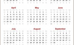 Download 2019 Yearly Calendar – Free August 2020 Calendar