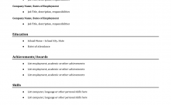 Easy | Job Resume Examples, Simple Resume Examples, Basic Resume