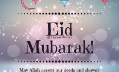 Eid Mubarak To All! May #allah Accept Our Deeds And Shower