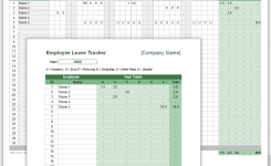 Employee Leave Tracker Template – Leave Schedule