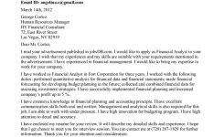 Entry Level Financial Analyst Cover Letter Simple Ideas