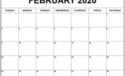 February 2020 Calendar Excel | Awesome Free Printable