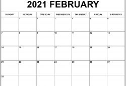 2021 Blank Calendar Pages