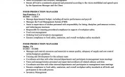 Food Production Manager Resume Samples | Velvet Jobs