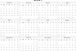 Free Monthly Calendar Template 2021 Full Month