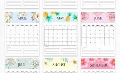 Free Calendar 2020 Printable: 12 Cute Monthly Designs To