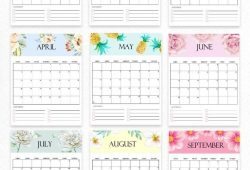 2021 Cute Yearly Calendar