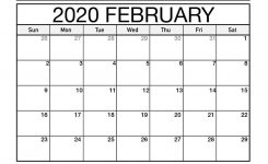 Free January To March 2020 Calendar Template – 2019