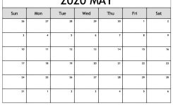 Free May 2020 Calendar Printable With Holidays In Pdf Word Excel