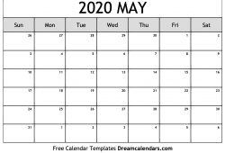 May 2020 Calendar Clipart