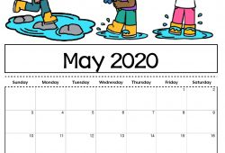 May 2020 Calendar For Kids