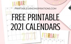 Free Printable 2021 Calendar Pdf – Printables And Inspirations