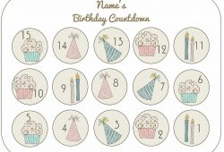 Birthday Calendar Countdown Printable