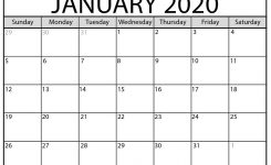 Free Printable January 2020 Calendar – Beta Calendars
