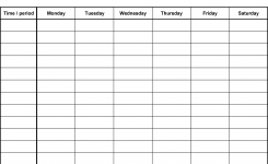 Free Weekly Schedule Templates For Pdf – 18 Templates