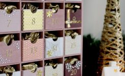 Glam Pink & Gold Reusable Diy Advent Calendar | Homemade