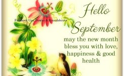Hello September, May The New Month Bless You With Love
