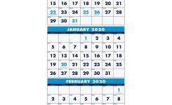 """House Of Doolittle Three-Month Vertical Wall Calendar – Monthly – 1.2 Year  – December 2019 Till January 2021 – 3 Month Single Page Layout – 12 1/4"""" X"""