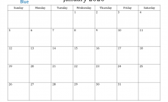 January 2020 Calendar – Pdf Word Excel