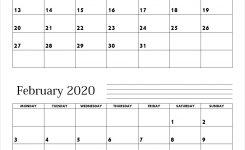 January February 2020 Calendar – Make A Plan For Two Month