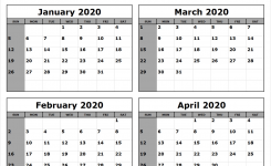 January-February-March-April-2020-Calendar-To-Print – All 12