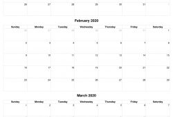 Calendar 2020 January To March