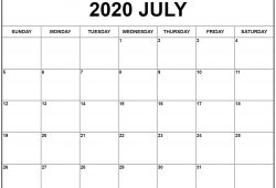 Calendar May June July 2020 Template