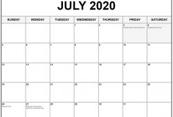 July Holiday Calendar