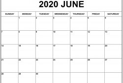 May And June 2020 Calendar Landscape
