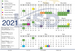 J Wallace James School Calendar