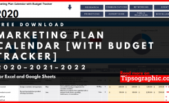 Marketing Plan Calendar Template With Budget Tracker For