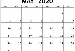 Free Printable Calendar March April May 2020