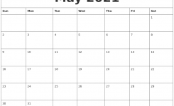 May 2021 Calendar Month