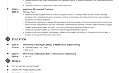 Mechanical Engineer Resume Examples (Template & Guide)